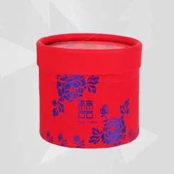 Caja de Dulces para Regalar con Estampado Azul