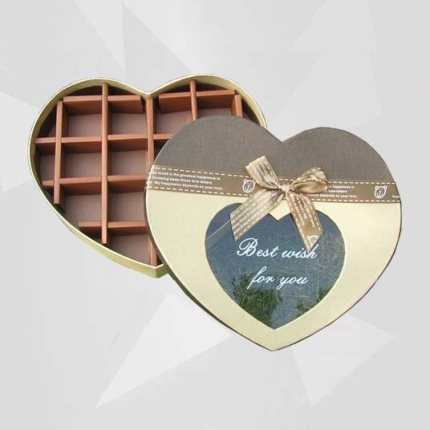 Cajas de Chocolates en Forma Corazon con Separador Papel